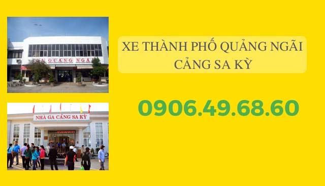 xe Tp.Quảng Ngãi – Cảng Sa Kỳ