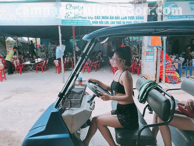 Xe điện ở Đảo Bé