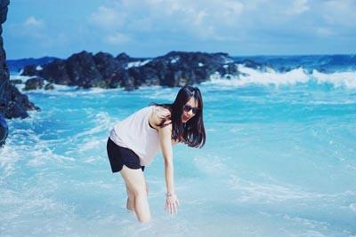 Biển Lý Sơn xanh như ngọc