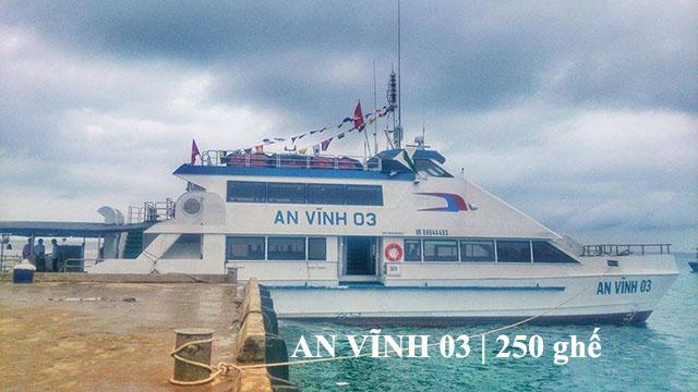 Tàu cao tốc An Vĩnh 03 Lý Sơn