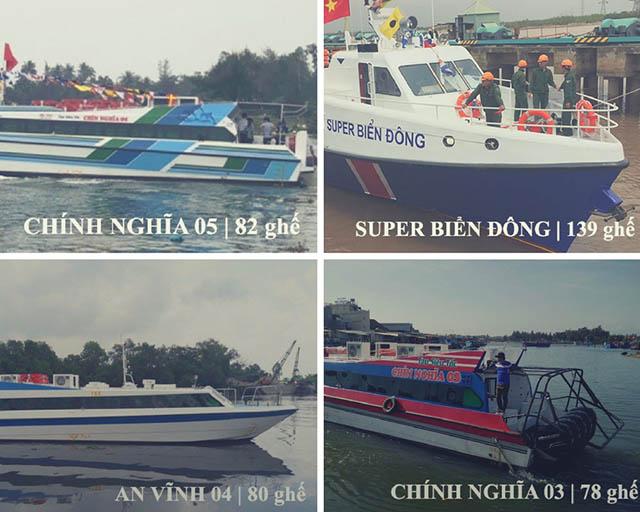 Tàu siêu tốc ra Đảo Lý Sơn