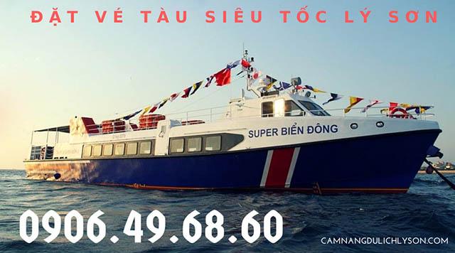 Đặt vé tàu siêu tốc đi Lý Sơn
