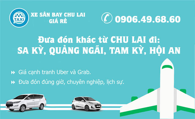 Xe taxi ở sân bay Chu Lai
