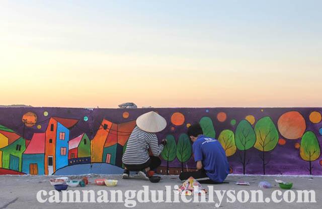 Bức tranh về cuộc sống của người dân trên Đảo