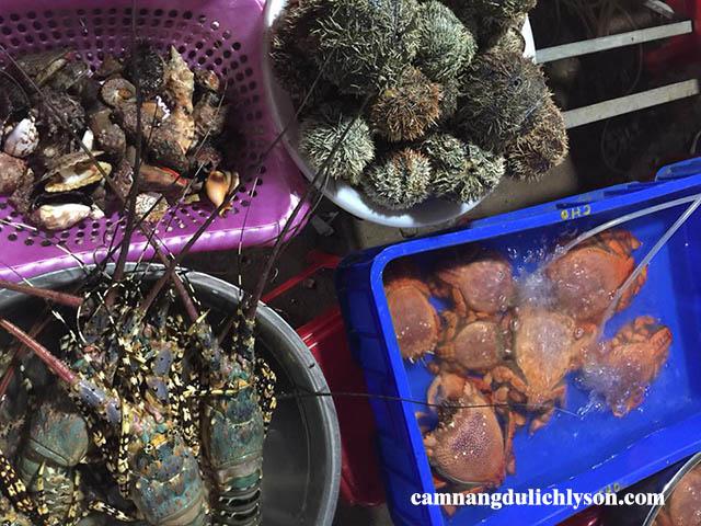 Chợ hải sản Lý Sơn