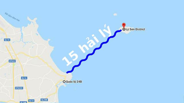 Đảo Lý Sơn cách đất liền bao xa