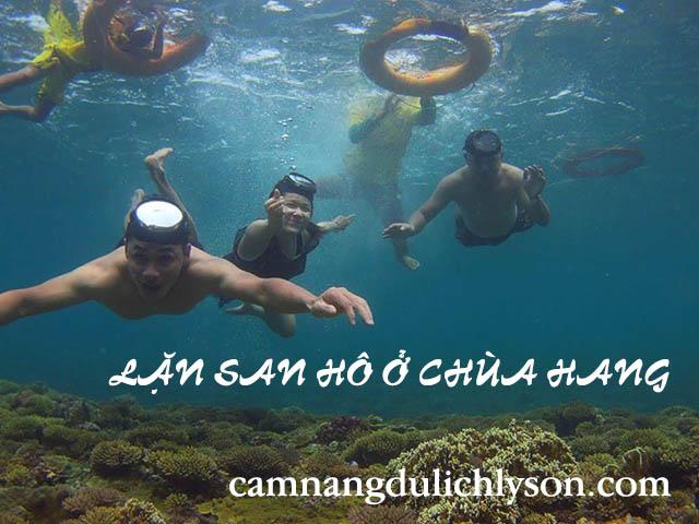 Lặn san hô ở Chùa Hang