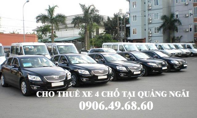 Cho thuê xe 4 chỗ tại Quảng Ngãi