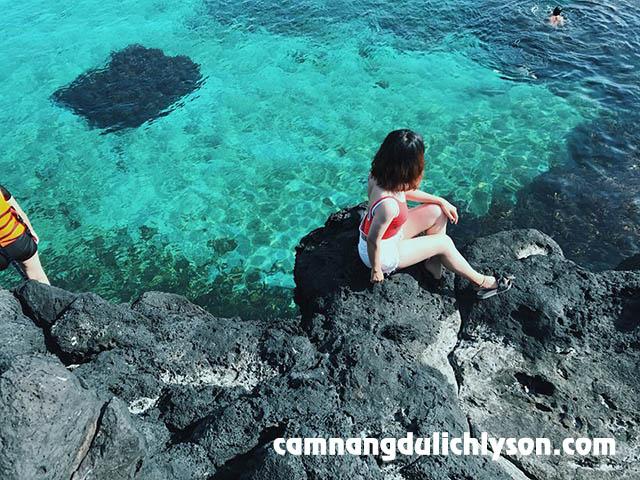 Đảo Bé Lý Sơn ở Bãi Sau