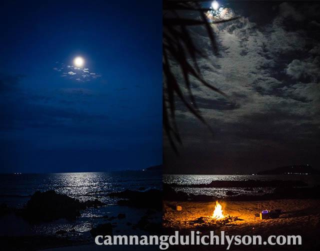 Buổi tối ở Đảo Bé Lý Sơn