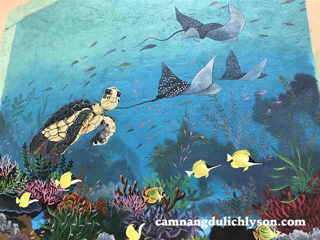 Bức họa bảo tồn thiên nhiên đặc biệt loài rùa biển