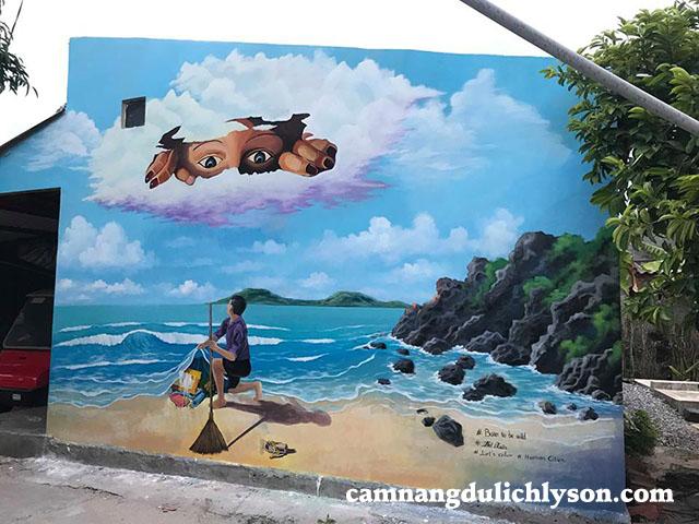 Bức họa bảo vệ môi trường ở Đảo Lý Sơn