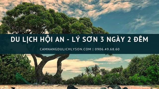 Review du lịch Hội An Lý Sơn 3 ngày 2 đêm