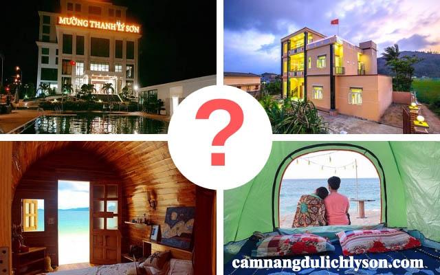 Lựa chọn khách sạn, nhà nghỉ hay homestay ở Lý Sơn