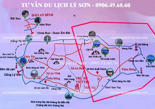 Bản đồ du lịch Lý Sơn