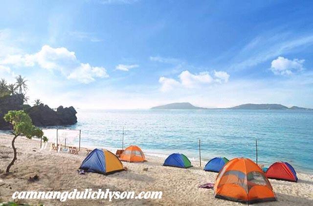 Du lịch cộng đồng tại Lý Sơn với hoạt động cắm trại ở Đảo Bé