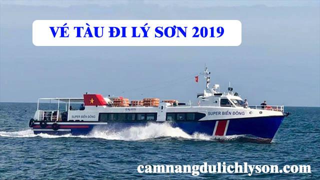 Vé tàu đi Lý Sơn năm 2019