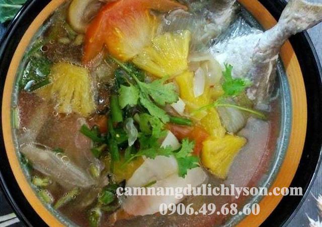 Cá dìa bông nấu canh chua