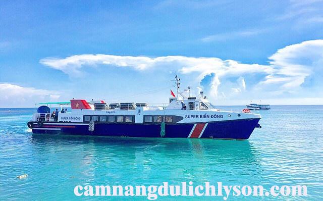 Tàu Super Biển Đông đi Lý Sơn