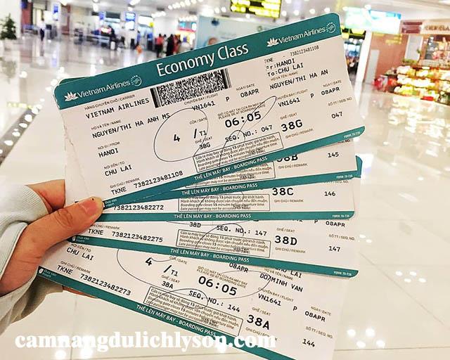 Vé sân bay Nội Bài đi Chu Lai