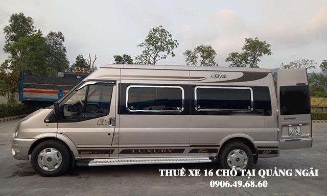 Thuê xe 16 chỗ du lịch tại Quảng Ngãi