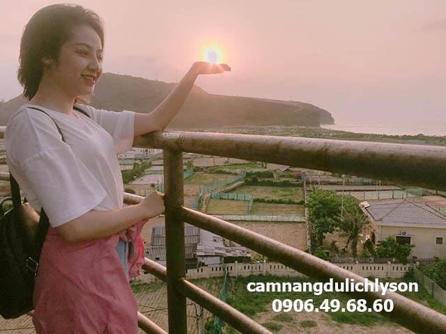 Góc ảnh đẹp ở đèn biển Lý Sơn