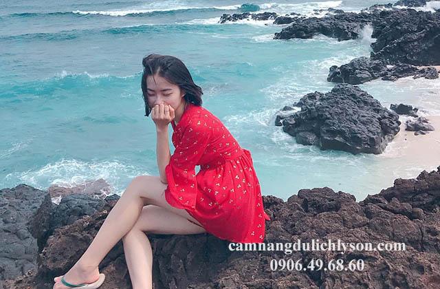 Biển ở Đảo Bé Lý Sơn xanh biếc