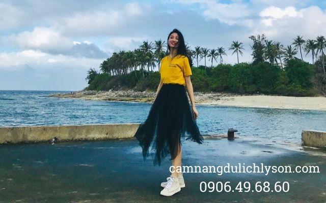 Vừa bước chân lên Đảo Bé Lý Sơn là có view đẹp check-in cho du khách